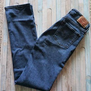 Levi's 714 Mid Rise Straight Dark Blue Jeans 26